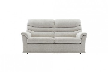 Malvern Fabric 3 Seater Recliner Sofa (Double) (2 Cushions)