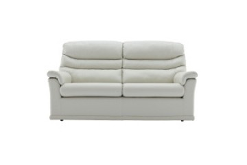 Malvern Leather 3 Seater Sofa (2 Cushions)