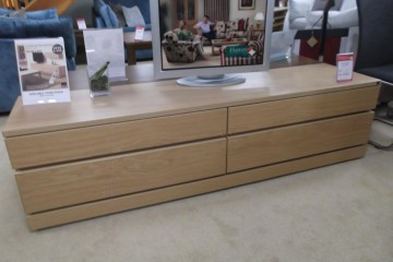 Large TV Unit In Light Oak