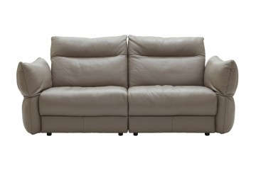 Tess Leather 3 Seater Sofa (2 Cushions)