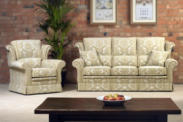 Newbury 3 Seater Sofa, Wing Chair & Ladies Wing Chair
