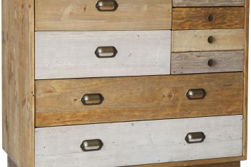 Grenier Reclaimed Pine 7 Drawer Chest With Plinth